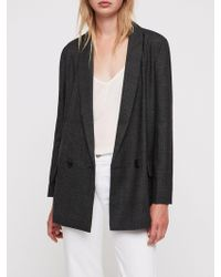 AllSaints - Harriet Check Blazer - Lyst
