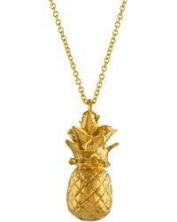 Alex Monroe | Long Pineapple Pendant Necklace | Lyst