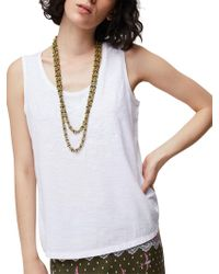 White Stuff - Embroidered Jersey Vest Top - Lyst