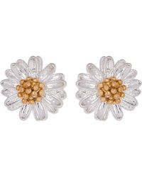 Estella Bartlett - Mini Wildflower Silver Plated Earrings - Lyst