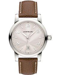Montblanc - 108762 Women's Star Date Alligator Strap Watch - Lyst