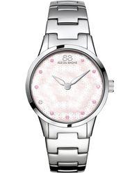 88 Rue Du Rhone | 87wa153203 Women's Rive Pink Sapphire And Diamond Filigree Dial Bracelet Strap Watch | Lyst