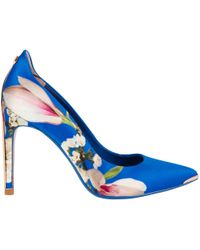 Ted Baker - Hallden Textile Heel Court Shoes - Lyst