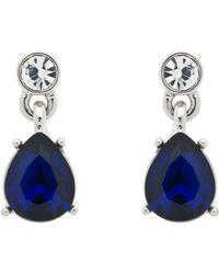Monet - Glass Crystal Single Teardrop Drop Earrings - Lyst