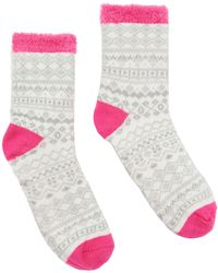 Joules - Textured Three Tone Cabin Ankle Socks - Lyst
