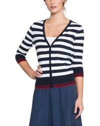 East - Combination Stripe Cardigan - Lyst