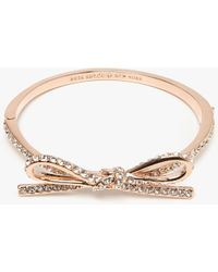 Kate Spade - Pave Bow Bangle - Lyst