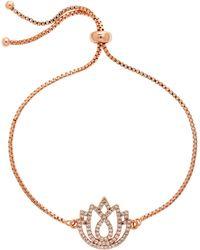 Melissa Odabash - Rhodium Sapphire Virgo Bracelet - Lyst