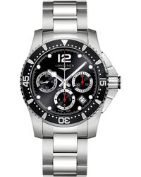 Longines - L37444566 Men's Hydro Conquest Chronograph Date Bracelet Strap Watch - Lyst
