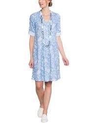 East - Linen Antoinette Pintuck Dress - Lyst