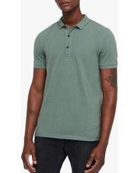 AllSaints - Reform Slim Fit Polo Shirt - Lyst