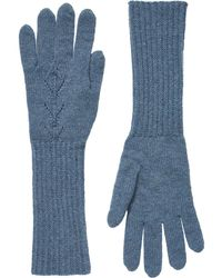 Brora - Cashmere Long Pointelle Gloves - Lyst