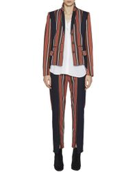 French Connection - Dovie Stripe Long Sleeve Jacket - Lyst