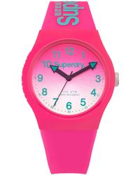 Superdry - Syl198pn Women's Urban Laser Silicone Strap Watch - Lyst