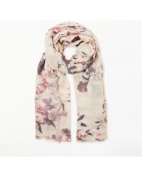 Modern Rarity - Confetti Floral Print Wool And Silk Scarf - Lyst