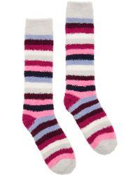Joules - Fab Fluffy Ruby Stripe Ankle Socks - Lyst