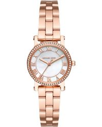 Michael Kors - Mk3558 Women's Petite Norie Crystal Bracelet Strap Watch - Lyst