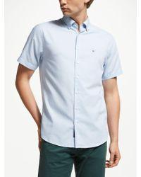 GANT - Tech Prep Regular Short Sleeve Oxford Shirt - Lyst