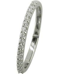John Lewis - Ewa Platinum 17 Diamond Half Eternity Ring - Lyst