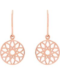 Auren | 18ct Rose Gold Vermeil Dreamcatcher Drop Earrings | Lyst