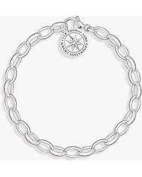 Thomas Sabo - Charm Club Heart Angel Charm Chain Bracelet - Lyst