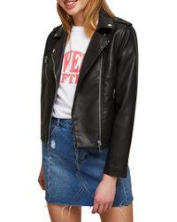 Miss Selfridge - Millie Biker Jacket - Lyst