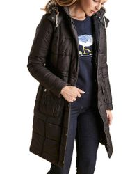 Barbour - Foreshore Baffle Quilted Hooded Coat - Lyst
