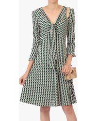 28a95c3c204 John Lewis and Partners · Jolie Moi - Tie Front Geometric Print Dress - Lyst
