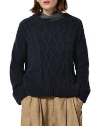 Toast - Chunky Cable Knitted Jumper - Lyst