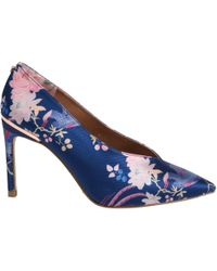 1ae54514c Ted Baker Monirra Pointed Court Shoes in Blue - Lyst