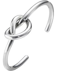 Georg Jensen - Medium Love Knot Single Bangle - Lyst