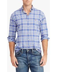 Ralph Lauren - Polo Classic Fit Plaid Oxford Shirt - Lyst
