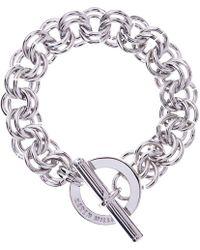 Karen Millen - Encrusted Bar & Hoop Bracelet - Lyst