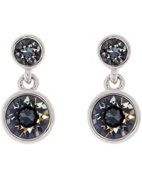 Karen Millen | Swarovski Crystal Dot Drop Earrings | Lyst