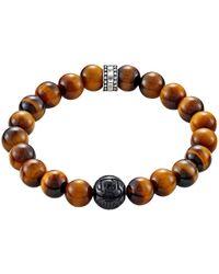 Thomas Sabo - Rebel At Heart Beaded Tiger Eye Bracelet - Lyst