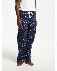 John Lewis - Brush Stroke Print Pyjama Bottoms - Lyst