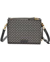 Fossil - Campbell Black Leather Handbag Zb7265080 - Lyst