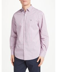 GANT - Tech Prep Long Sleeve Check Shirt - Lyst