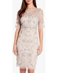 Adrianna Papell - Embellished Overlay Dress - Lyst