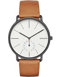 Skagen - Skw6216 Men's Hagen Leather Strap Watch - Lyst