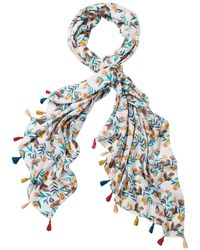 White Stuff - Birds In The Branches Scarf - Lyst