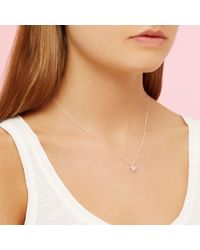 John Lewis - Estella Bartlett Diamanté Sparkle Heart Pendant Necklace - Lyst