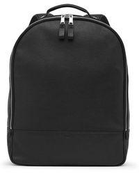 Reiss - Bilton Grained Leather Backpack - Lyst