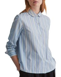 Toast - Stripe Cotton Poplin Shirt - Lyst