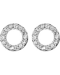 Dyrberg/Kern | Dyrberg/kern Koro Crystal Cut-out Round Stud Earrings | Lyst