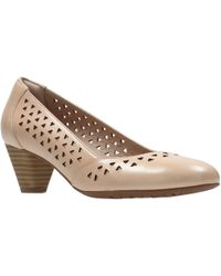 Clarks - Denny Dallas Cut Out Court Shoes - Lyst