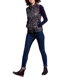 Joules - Brindley Chevron Floral Quilted Gilet - Lyst