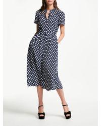 2866ee1e25aef Somerset by Alice Temperley - Banana Spot Shirt Dress - Lyst