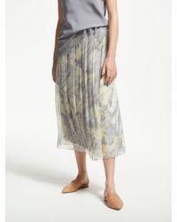 Modern Rarity - Double Layer Watercolour Skirt - Lyst