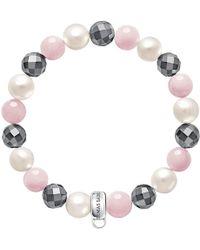 Thomas Sabo | Charm Club Freshwater Pearl And Quartz Bracelet | Lyst